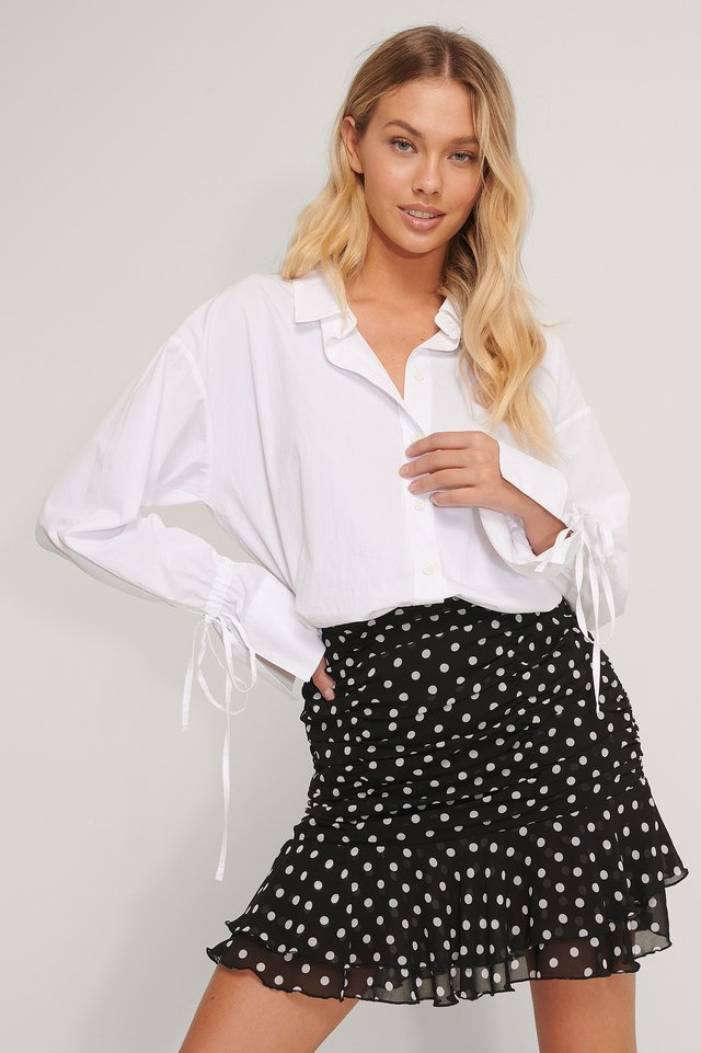 Sheer Mini Skirt Dots