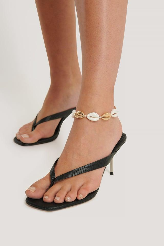 Shell Anklet Gold/White