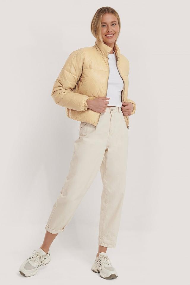 Shiny Padded Jacket Misslisibell x NA-KD