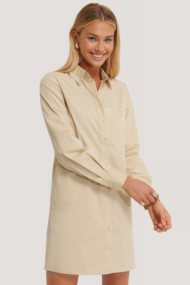 Skjortklänning Creme