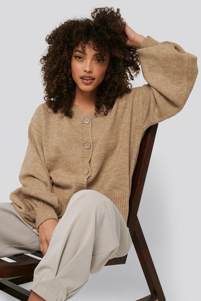 Short Chunky Knit Cardigan NA-KD