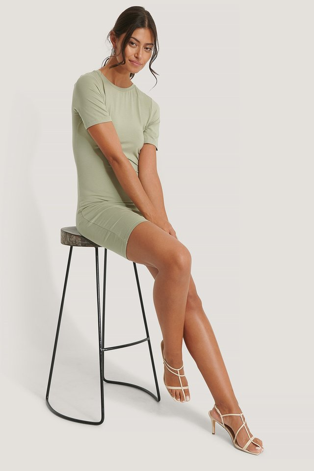 Short Sleeve Dress Khaki