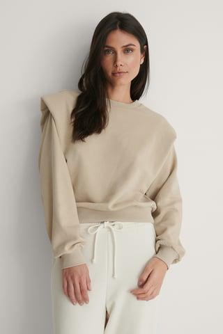 Beige Wykonana Z Bio Bawełny Bluza