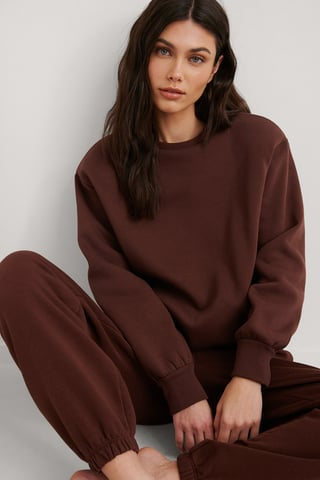 Brown Ekologisk Sweatshirt
