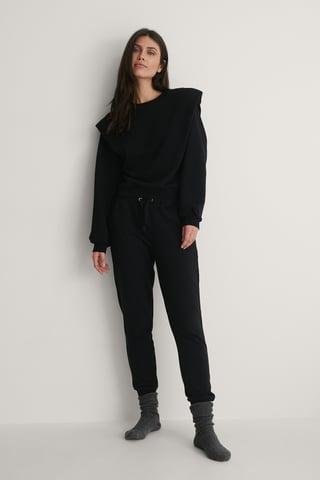 Black Fremstillet Af Økologisk Bomuld Sweatshirt