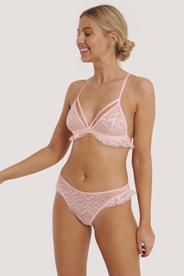 Light Pink Spitzen-Höschen