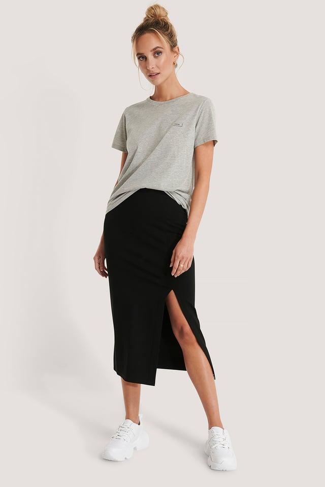 Side Slit Jersey Skirt NA-KD
