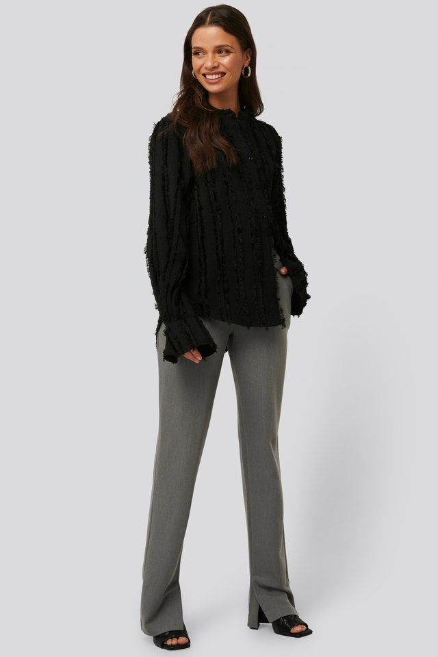 Pantalon Met Split Grey