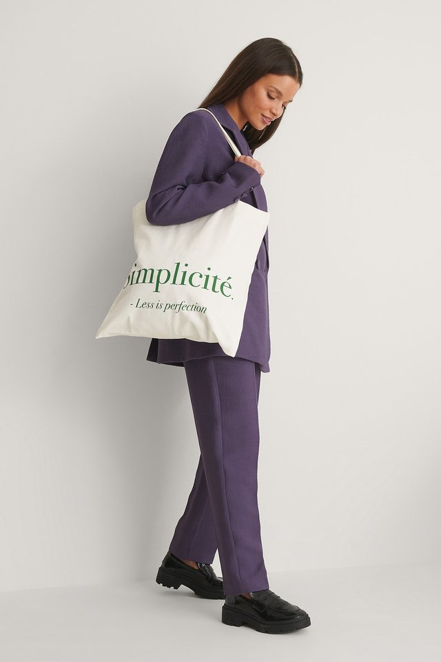 Offwhite Simplicité Tote Bag