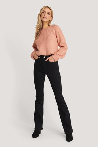 Black Skinny Bootcut Jeans