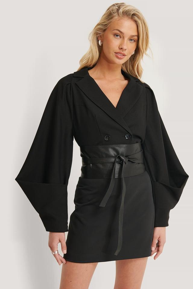 Black Sleeve Detail Blazer