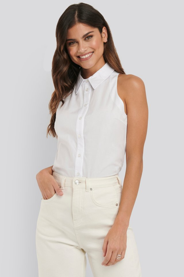 Sleeveless Shirt Optical White