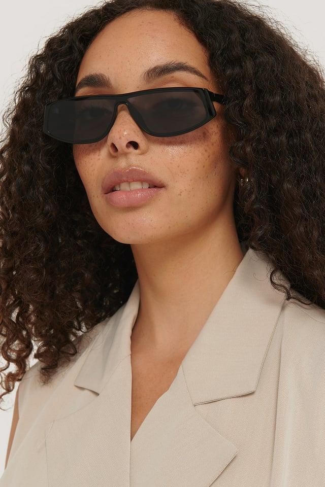 Black Slim Cycle Sunglasses