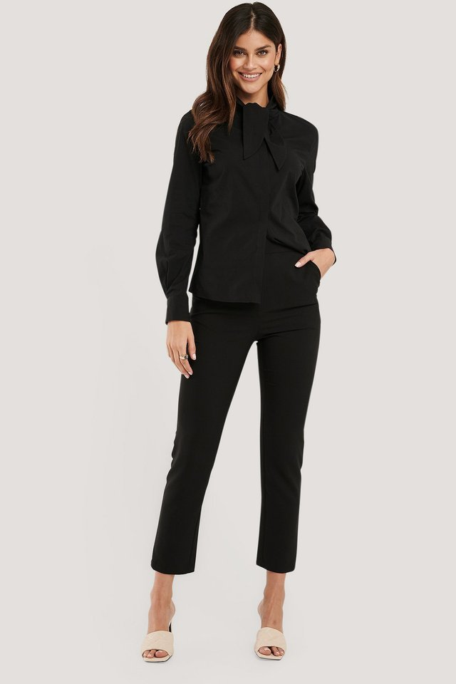 Slim-fit Suit Pants Black