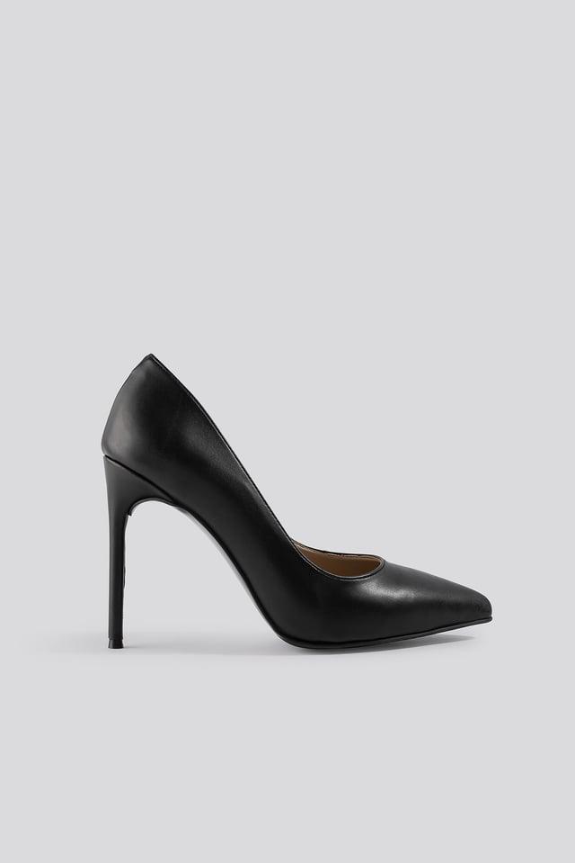Slim High Heel Pumps Black