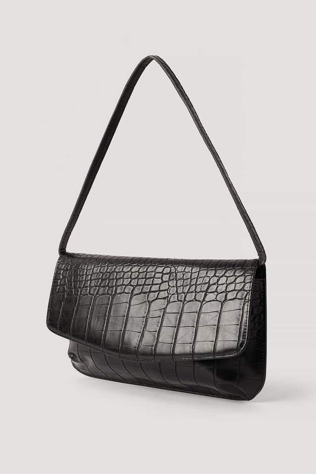 Slim Shoulder Bag Black