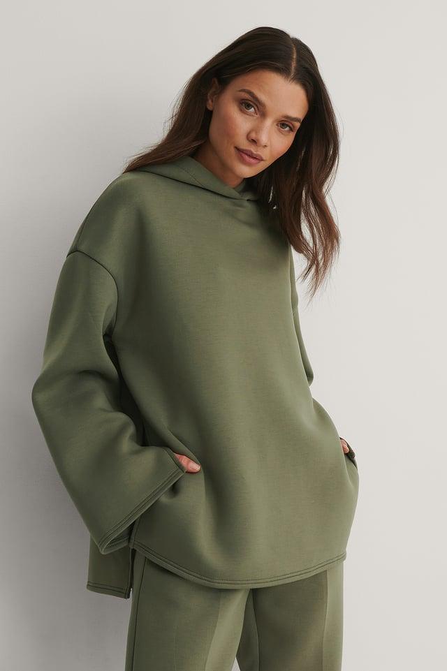 Dark Green Oversized Hoodie