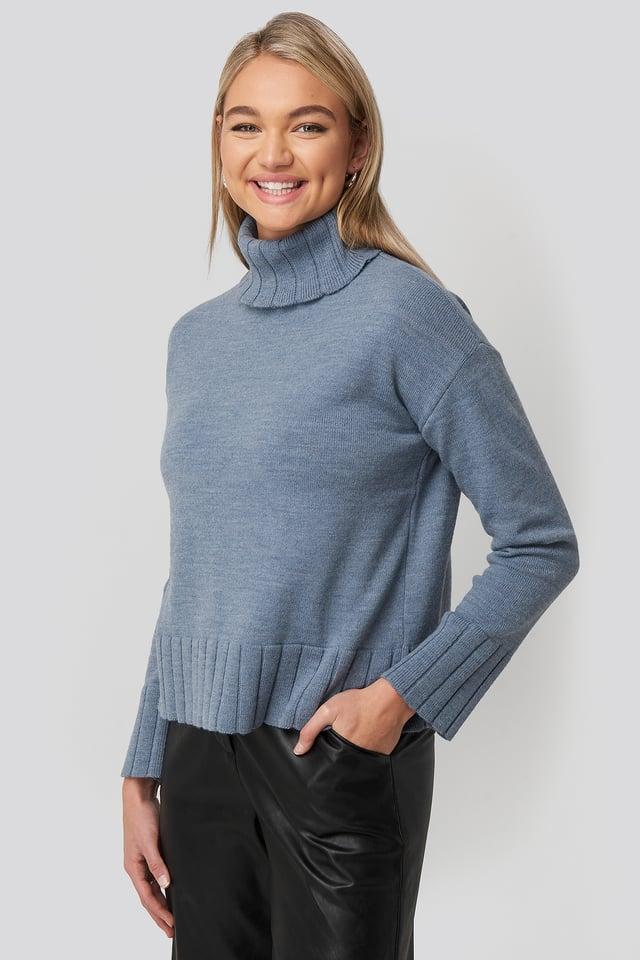 Dark Blue Sweter Z Golfem