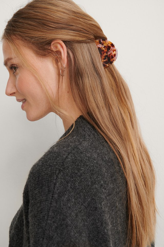 Multicolor Small Colorful Halfmoon Hairclip