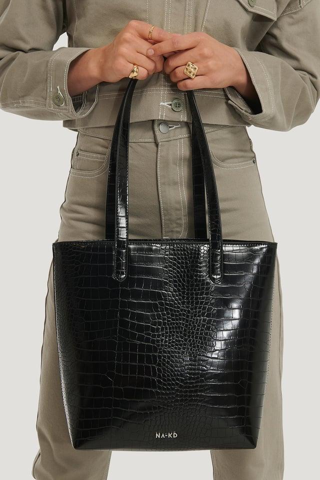 Kleine Stofftasche Black