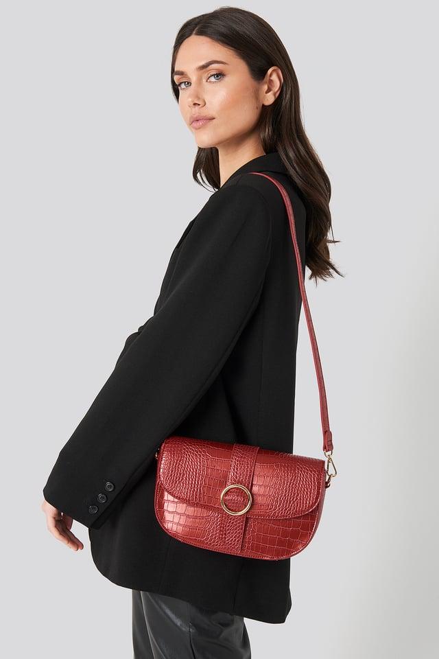 Snake Crossover Handbag Red