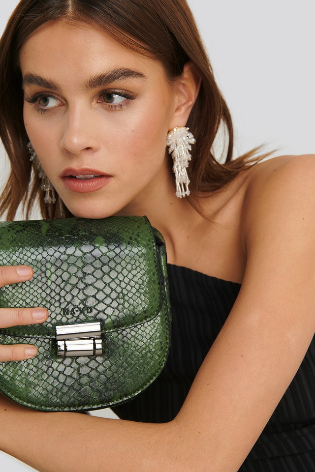 Snake Mini Shoulder Bag Green