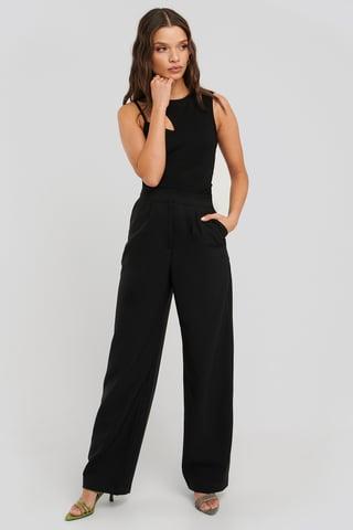 Black Straight Leg Pants