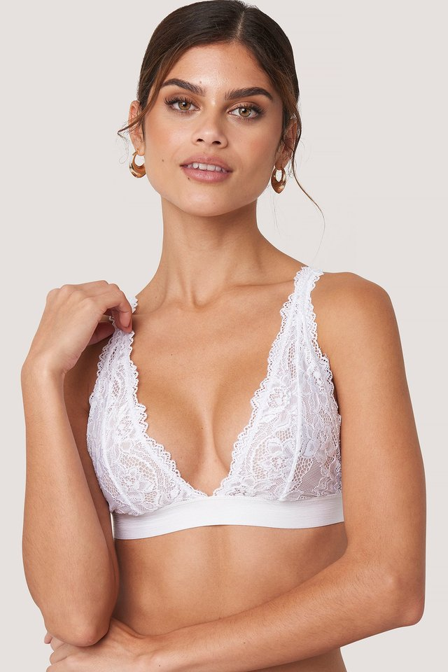 Soft Lace Bra White