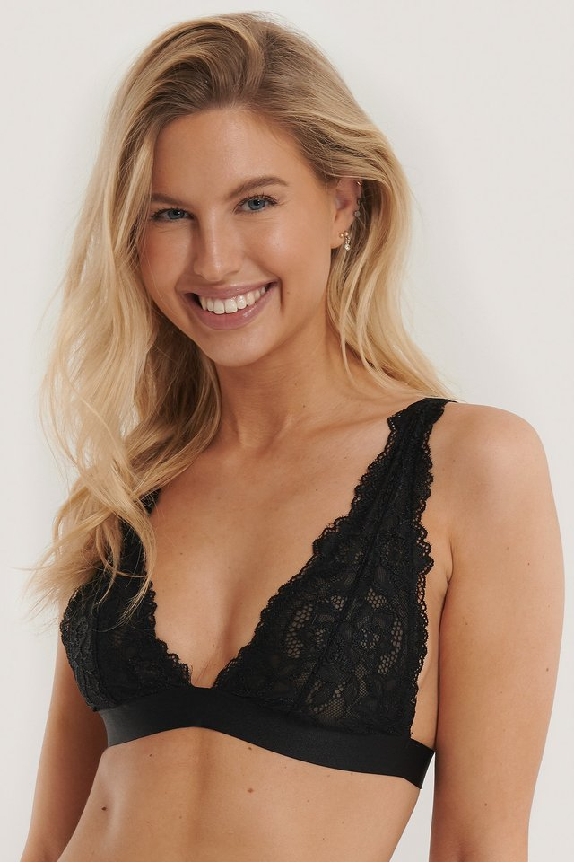 Black Soft Lace Bra