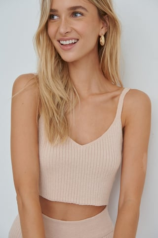 Pink Soft Ribbed Top