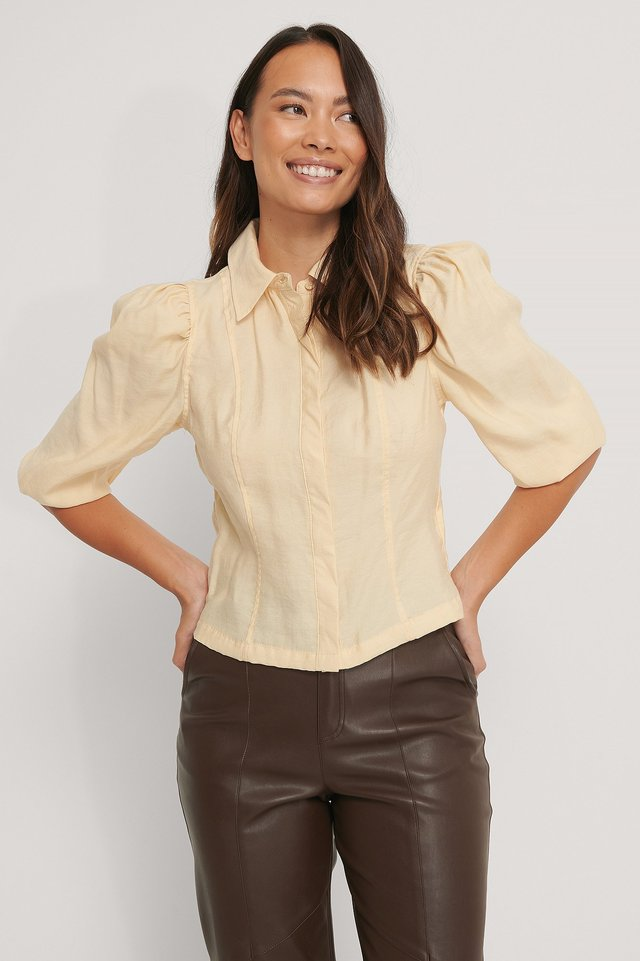 Beige Soft Shirt Blouse
