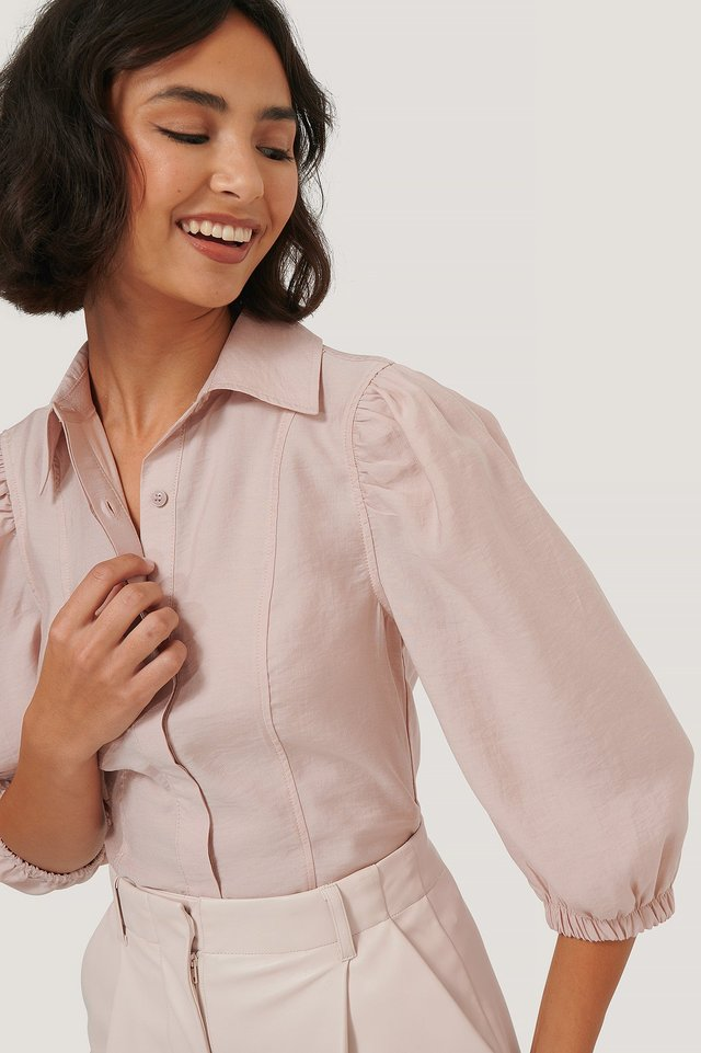 Soft Shirt Blouse Dusty Pink