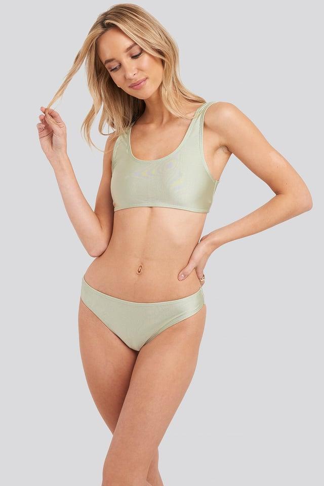 Sporty Bikini Briefs Green