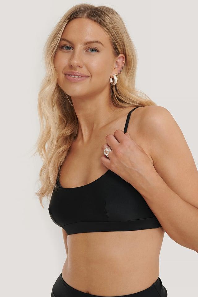 Black Sporty Bikini Bra