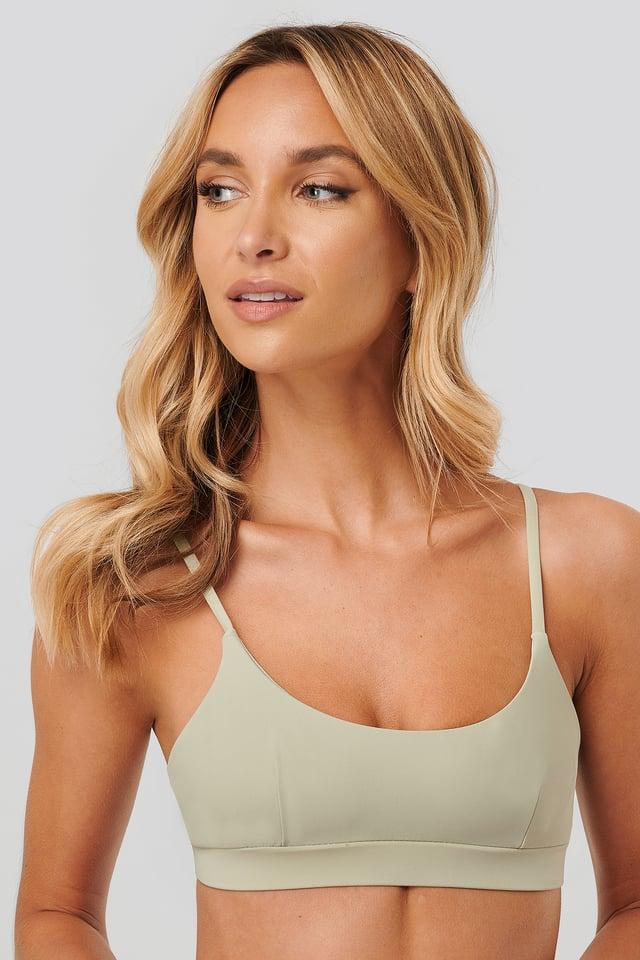 Sporty Bikini Bra Light Khaki