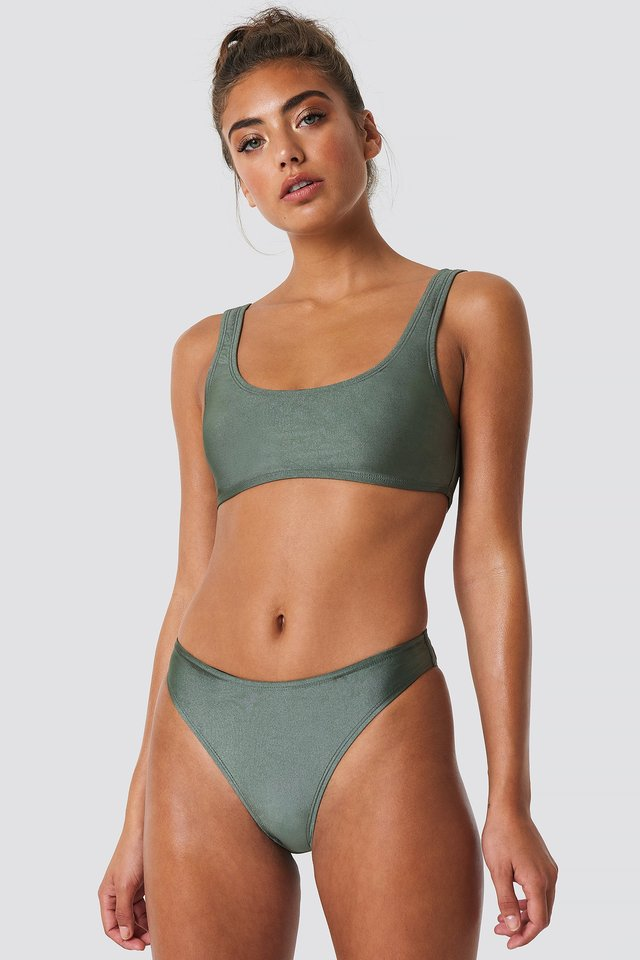Sporty Bikini Briefs Khaki Green
