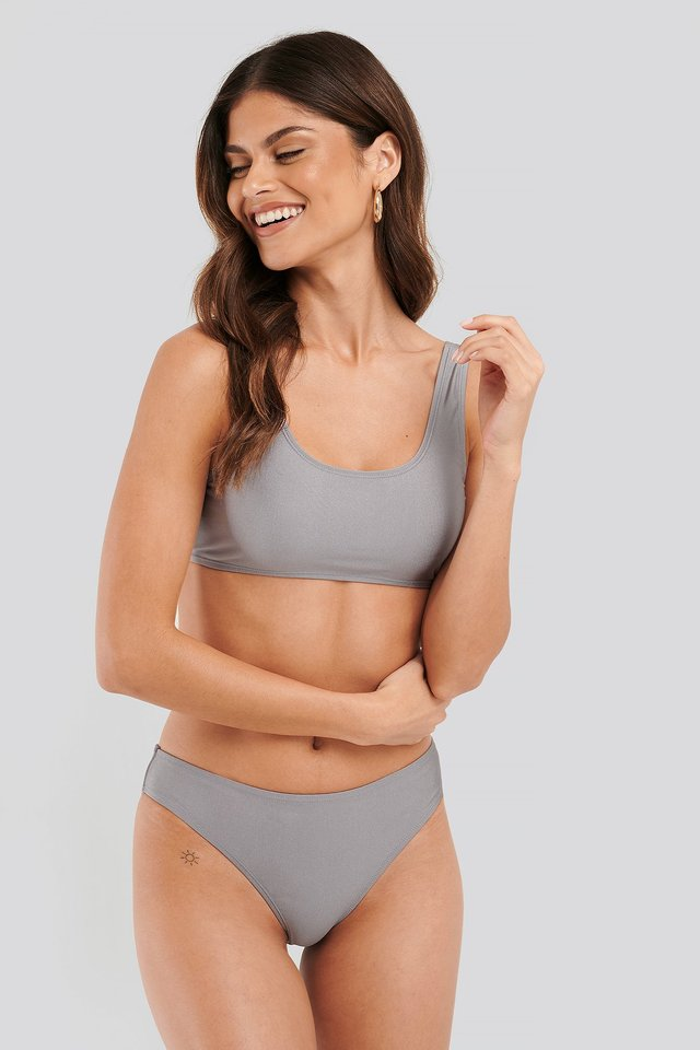 Sporty Bikini Briefs Dusty Lilac