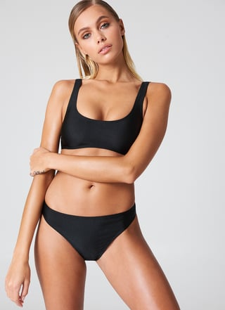 Black Sporty Bikini Briefs