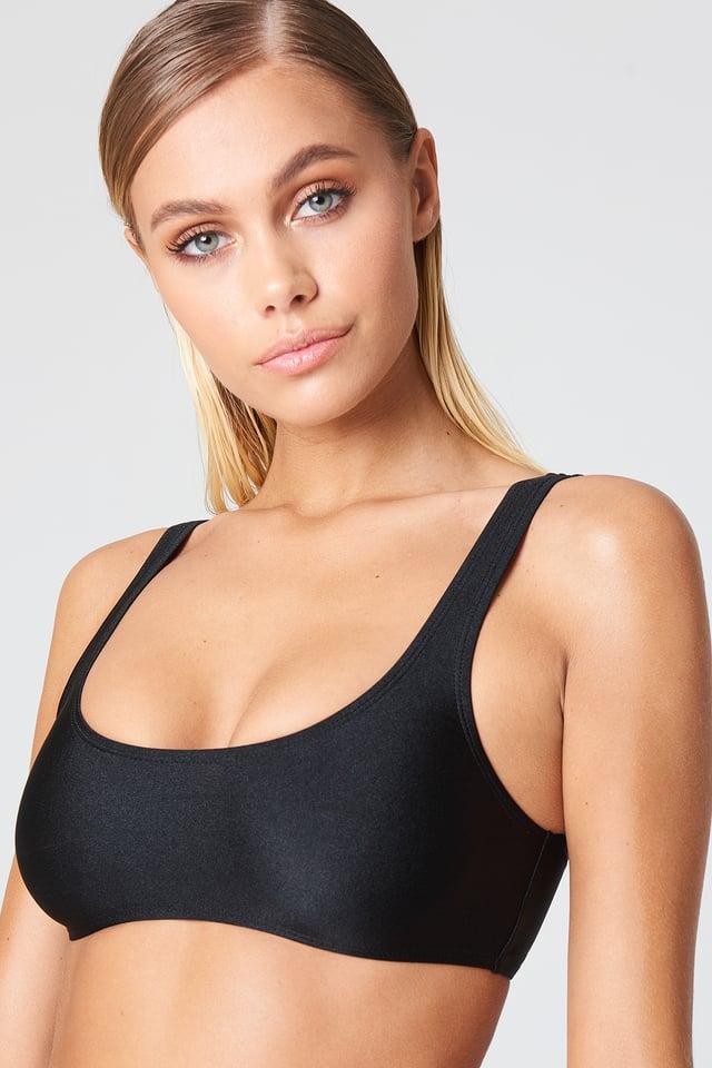 Sporty Bikini Top Black