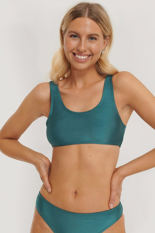 Sporty Bikini Top Dark Green