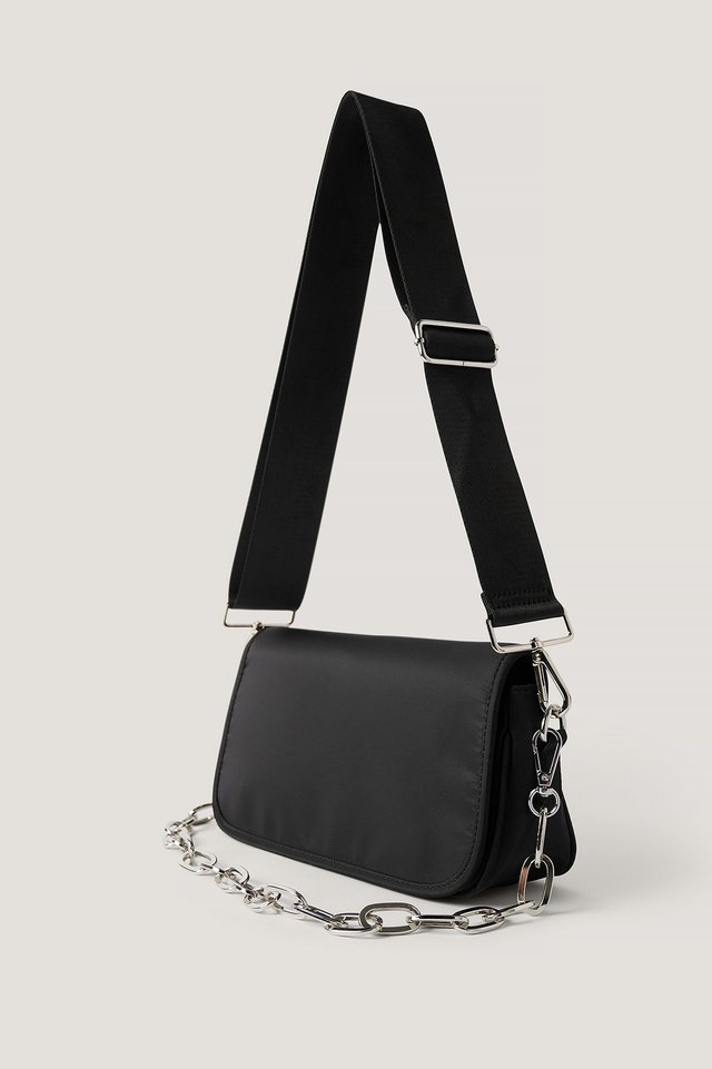 Sporty Shoulder Bag Black