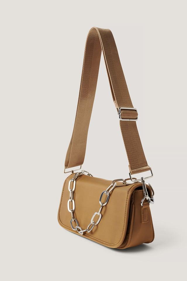 Beige Sporty Shoulder Bag