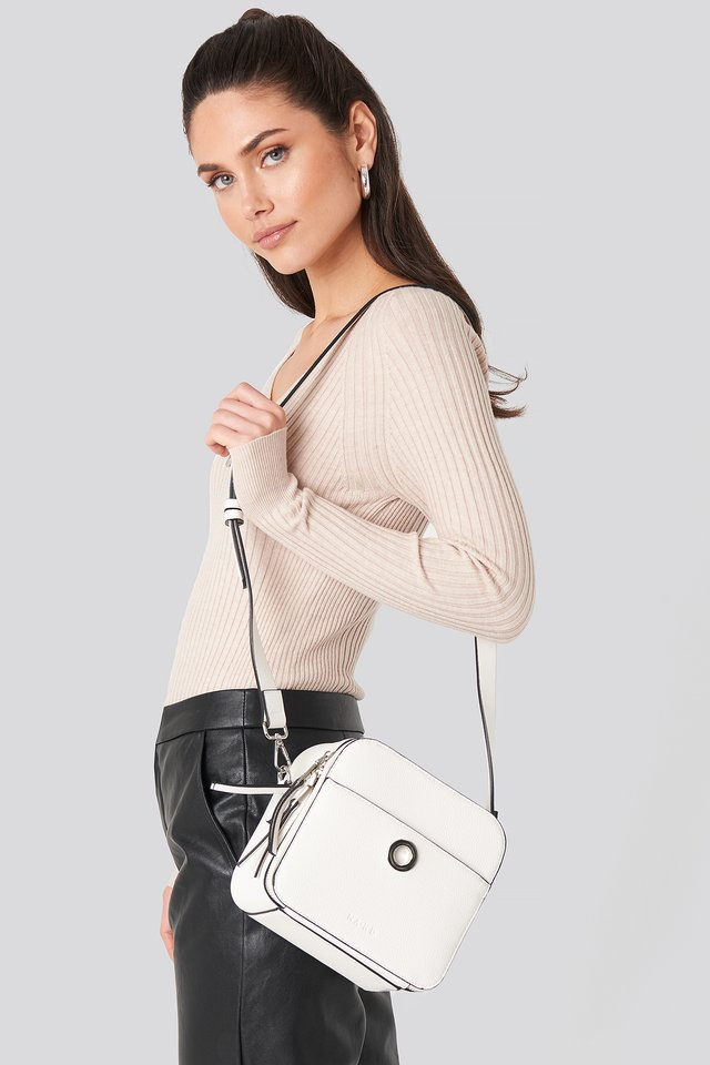 Square Crossover Logo Bag White