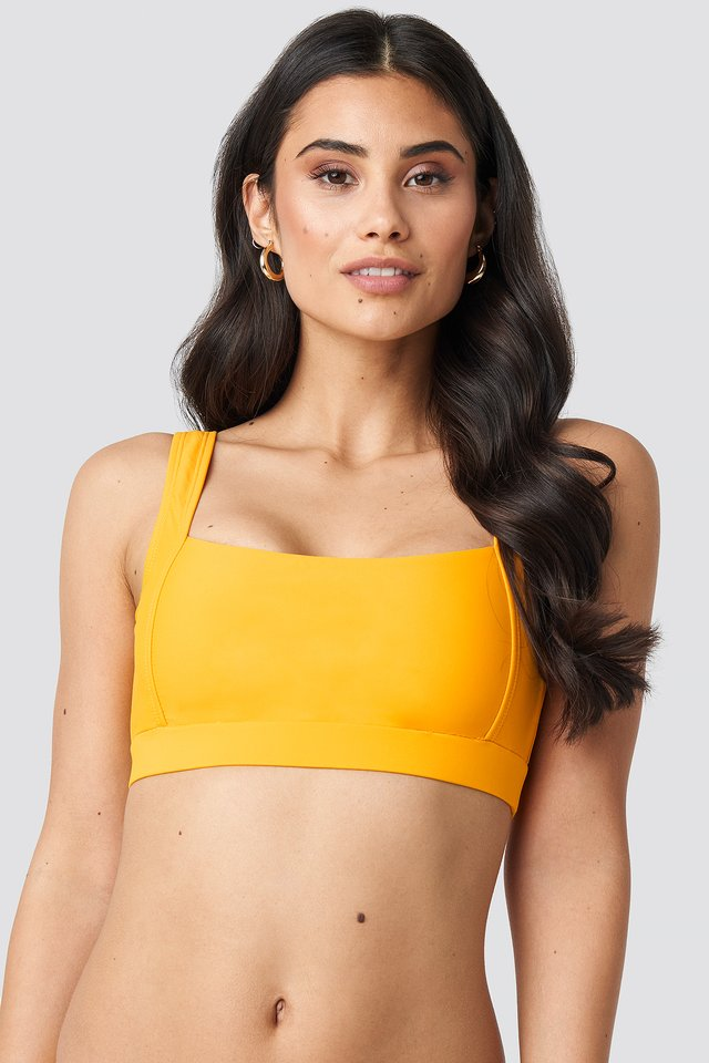 Citrus Square Neck Bandeau Top
