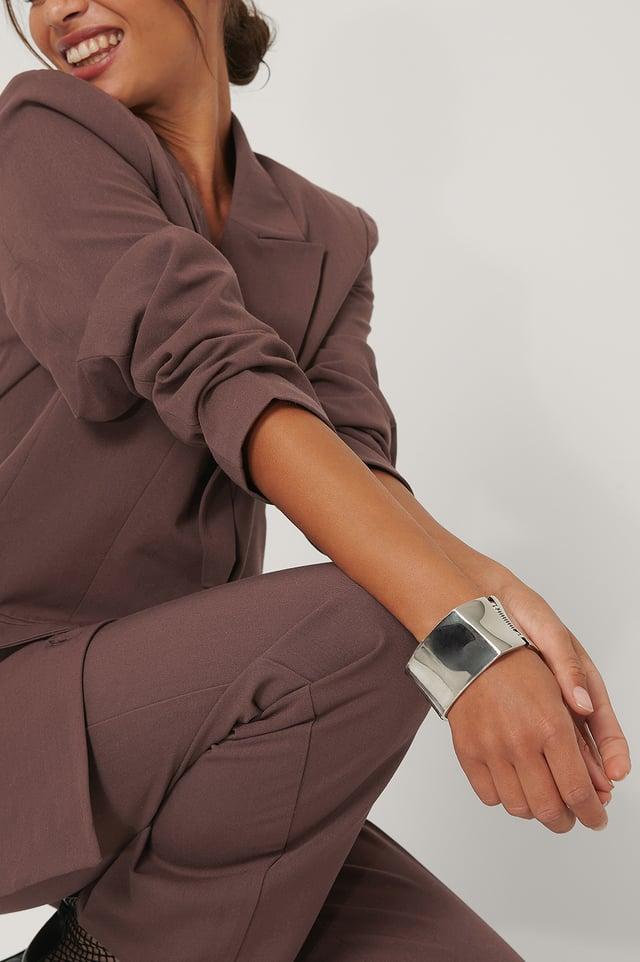 Silver Squared Cuff Bracelet