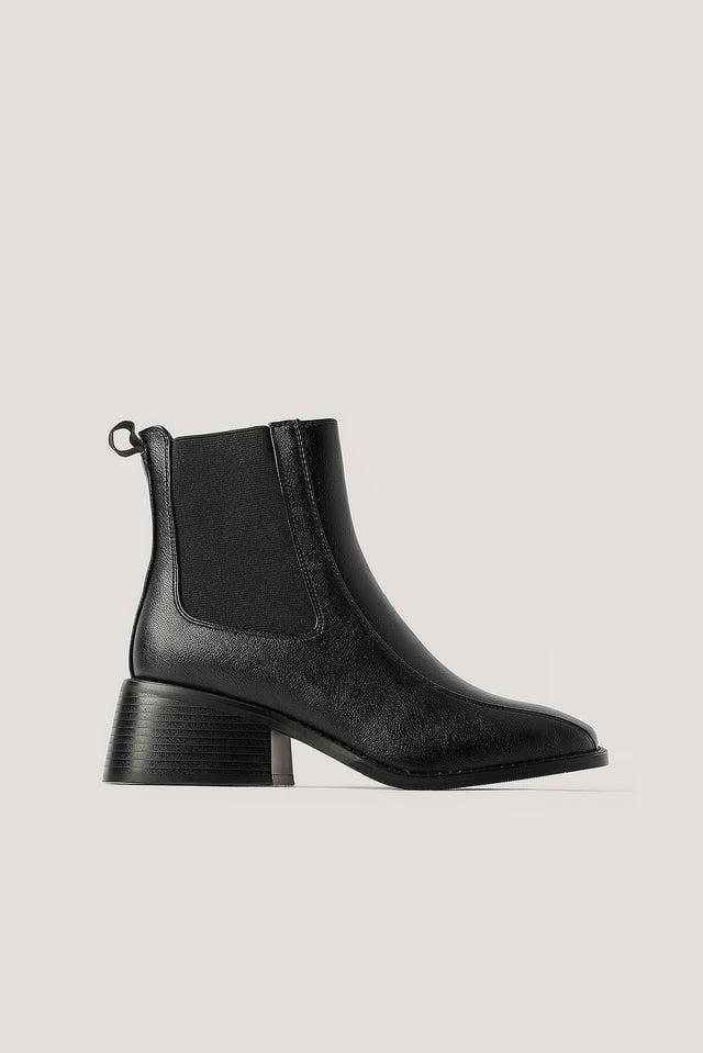 Chelsea Laarzen Met Vierkante Neus Black