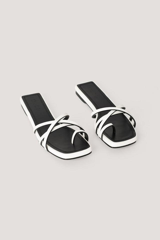 White/Black Sandaler