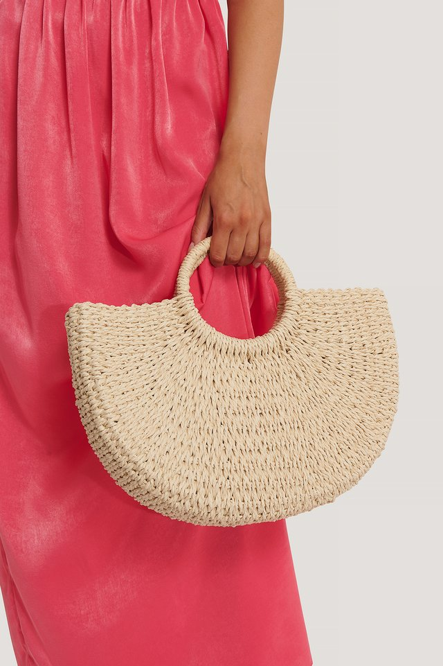 Straw Beach Bag Eggshell