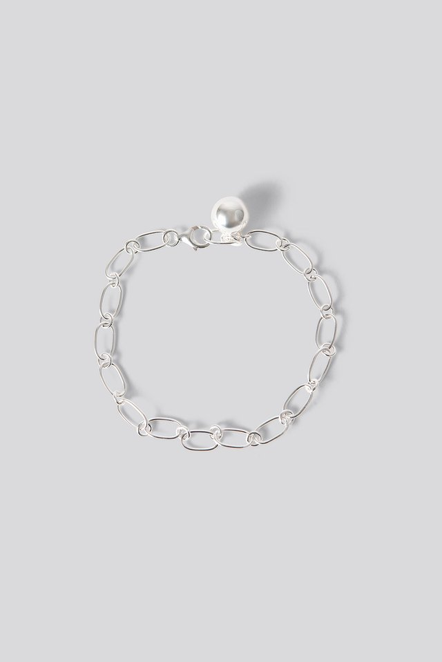 Silver Sterling Silver Thin Chain Bracelet