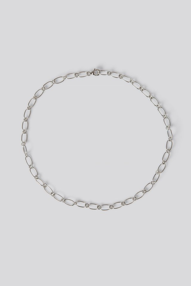 Sterling Silver Thin Chain Necklace NA-KD Accessories